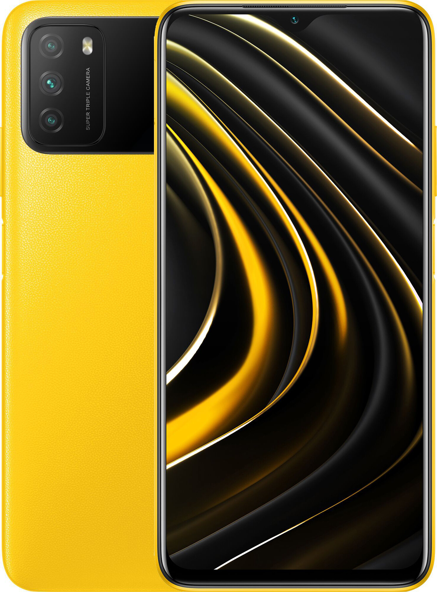 Смартфон Xiaomi Poco M3 4/64Gb Yellow: Фото 1