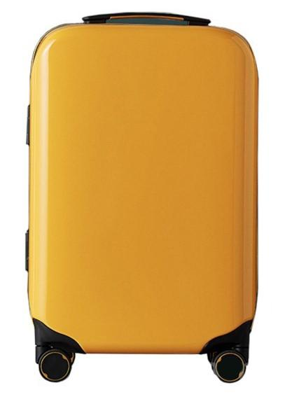 Чемодан Xiaomi 90FUN Aluminum Smart Unlock Suitcase 24'' Medium Yellow: Фото 1