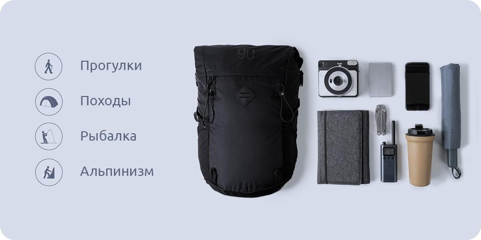 Рюкзак Xiaomi 90 Points Hike Basic Outdoor Backpack Green: Фото 5
