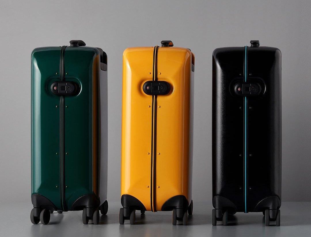 Чемодан Xiaomi 90FUN Aluminum Smart Unlock Suitcase 24'' Black Green: Фото 3