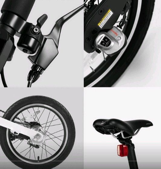 Электрический велосипед Xiaomi Mi QiCYCLE Folding Electric Bicycle Black: Фото 6