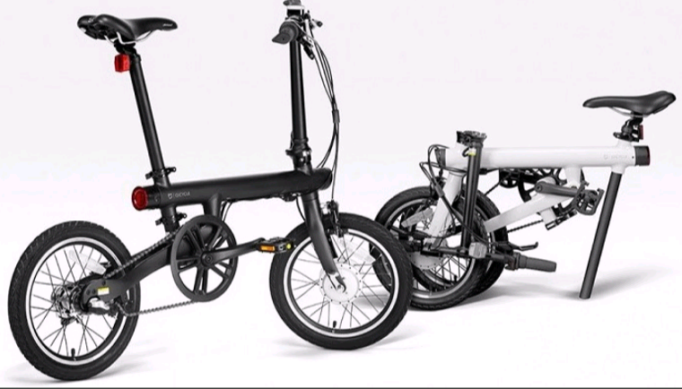 Электрический велосипед Xiaomi Mi QiCYCLE Folding Electric Bicycle Black: Фото 4