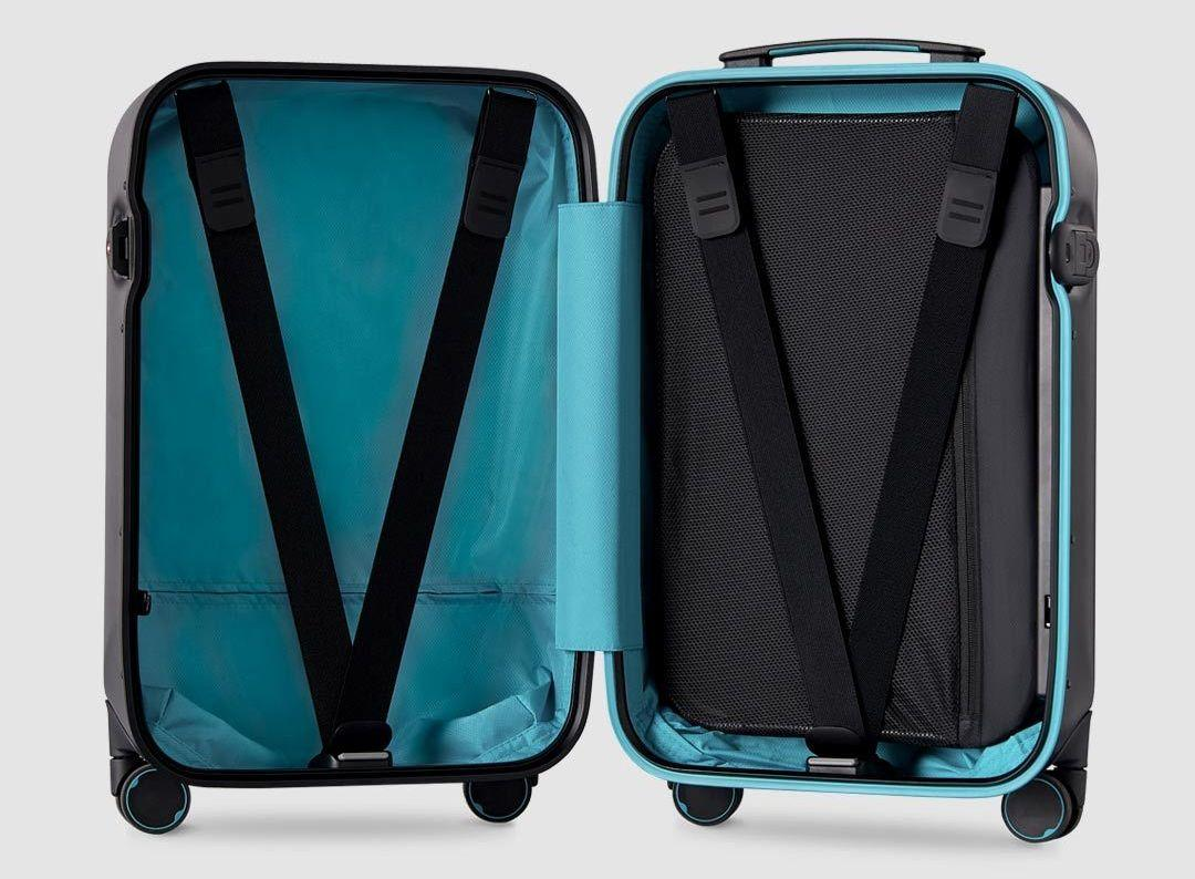 Чемодан Xiaomi 90FUN Aluminum Smart Unlock Suitcase 24'' Black Green: Фото 6