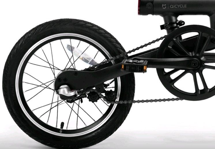 Электрический велосипед Xiaomi Mi QiCYCLE Folding Electric Bicycle Black: Фото 5