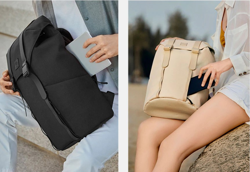 Рюкзак Xiaomi 90Go Colorful Fashion Casual Backpack Grey: Фото 6