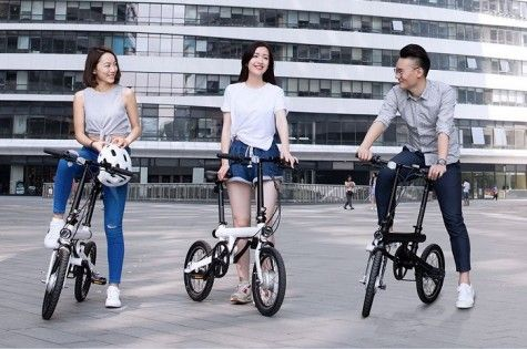 Электрический велосипед Xiaomi Mi QiCYCLE Folding Electric Bicycle Black: Фото 8