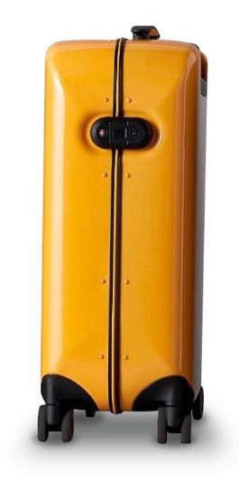 Чемодан Xiaomi 90FUN Aluminum Smart Unlock Suitcase 24'' Medium Yellow: Фото 2