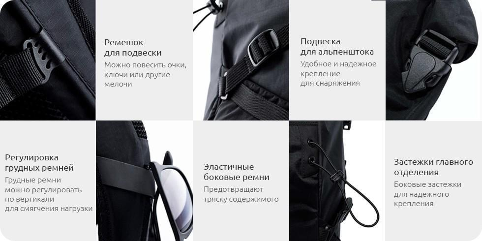 Рюкзак Xiaomi 90 Points Hike Basic Outdoor Backpack Blue: Фото 8
