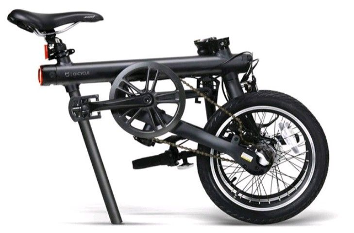 Электрический велосипед Xiaomi Mi QiCYCLE Folding Electric Bicycle Black: Фото 3