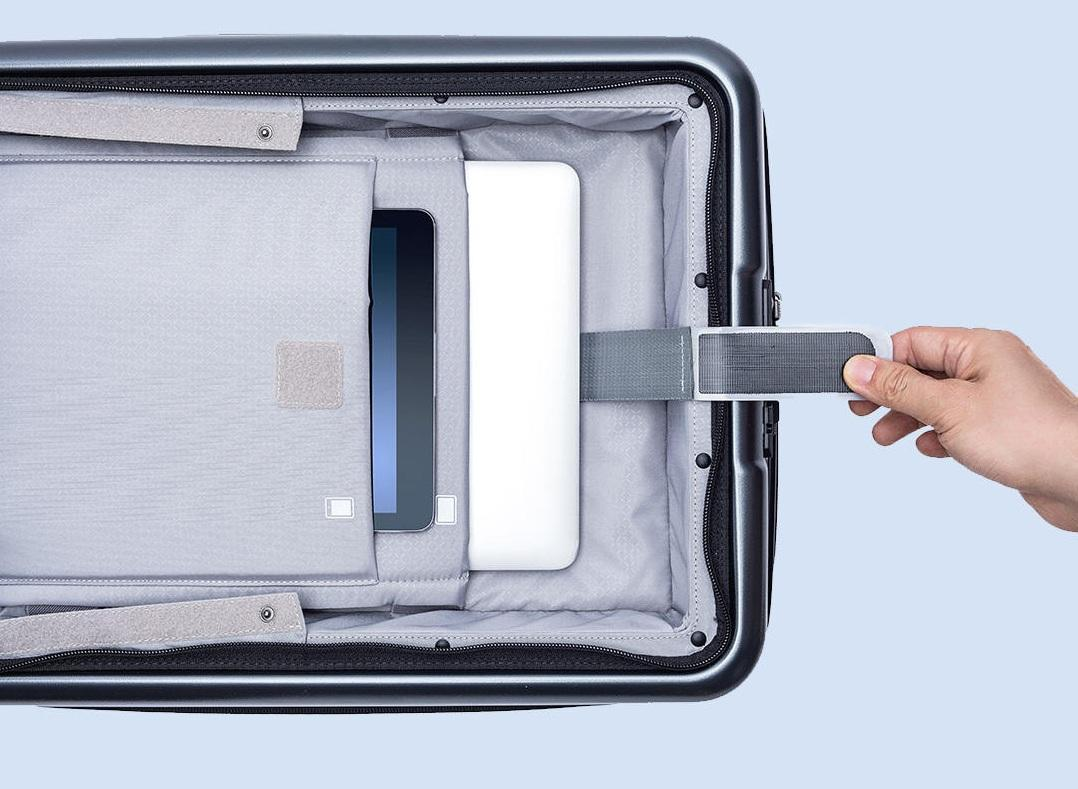 Чемодан Xiaomi 90FUN Carry On Travel Boarding Suitcase 20'' Titanium Grey: Фото 8