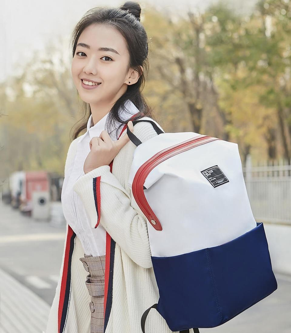 Рюкзак Xiaomi Lecturer Leisure Backpack White-Blue: Фото 2