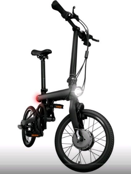 Электрический велосипед Xiaomi Mi QiCYCLE Folding Electric Bicycle Black: Фото 2