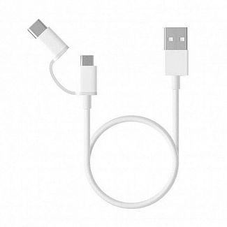 Кабель Xiaomi Mi 2-in-1 USB (Micro USB to Type C) 30cm